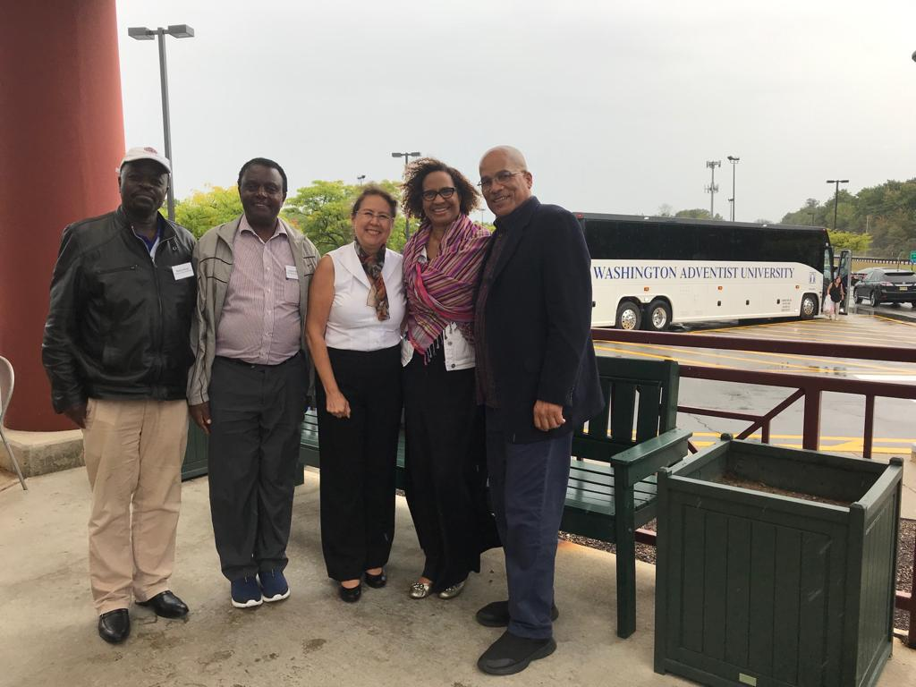 Drizzling in New Jersey with Drs. Philip Maiyo (University of Eastern Africa, Baraton, Kenya), Andrew Mutero, East Central Africa Division, Lisa GC Education Director, and Drs. Susan and Delbert Baker (Adventist University of Africa, Kenya).